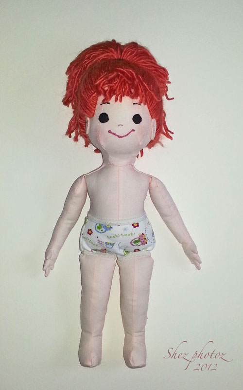 The doll is named Lexi and she is finished.
