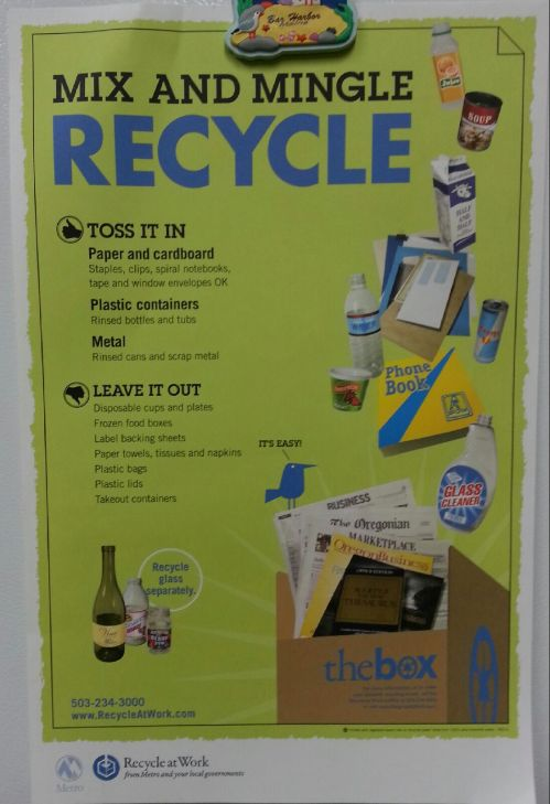 Bright green recycle poster